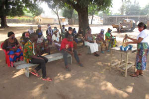 The Water Project: Lungi, Rotifunk, Paramount Chief's Compound -  People Listen During The Training