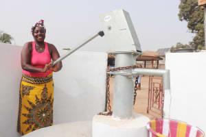 The Water Project: Lungi, Rotifunk, Paramount Chief's Compound -  Pumping The Well