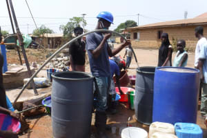 The Water Project: Lungi, Rotifunk, Paramount Chief's Compound -  Yield Test