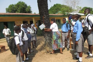 The Water Project: Kankalay Primary and Secondary School -  Handwashing Demonstration With A Tippy Tap