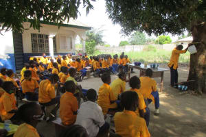 The Water Project: Kankalay Primary and Secondary School -  Handwashing Demonstration