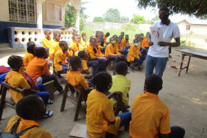 The Water Project: Kankalay Primary and Secondary School -  Hygiene Training With The Students