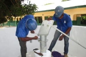 The Water Project: Kankalay Primary and Secondary School -  Pump Installation