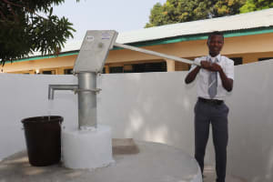 The Water Project: Kankalay Primary and Secondary School -  Pumping The Well