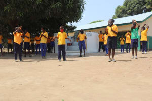 The Water Project: Kankalay Primary and Secondary School -  Students Celebrate At The Dedication