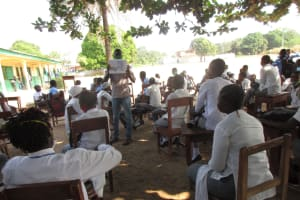 The Water Project: Kankalay Primary and Secondary School -  Students Listen About Good And Bad Hygiene Practices