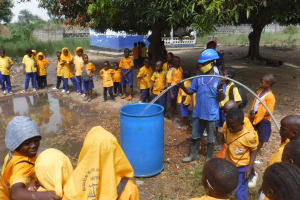 The Water Project: Kankalay Primary and Secondary School -  Yield Test