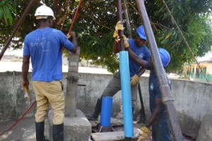 The Water Project: Kankalay Primary and Secondary School -  Drilling