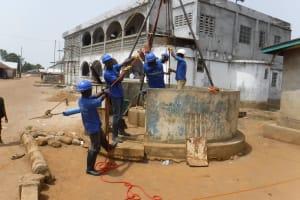 The Water Project: Lungi, Yongoroo, #7 Kamara Taylor Street -  Drilling