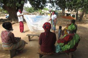 The Water Project: Lungi, Yongoroo, #7 Kamara Taylor Street -  Malaria Bed Net Demonstration