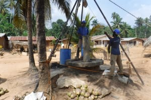 The Water Project: Polloth Village, Kroo Town Area -  Bailing