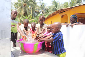 The Water Project: Polloth Village, Kroo Town Area -  Children Play At The Well