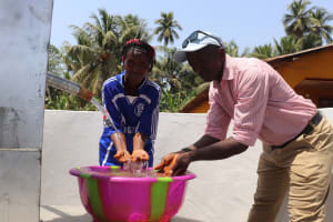 The Water Project: Polloth Village, Kroo Town Area -  Councilor And Chief Celebrate At The Well