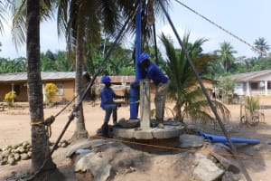 The Water Project: Polloth Village, Kroo Town Area -  Drilling