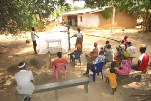 The Water Project: Polloth Village, Kroo Town Area -  Malaria Bed Net Demonstration