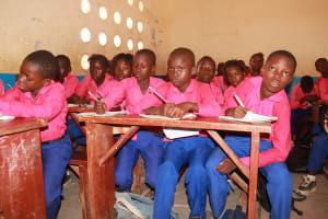 The Water Project: Masoila Roman Catholic Primary School -  Students Inside Classroom