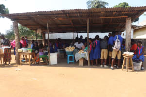 The Water Project: Masoila Roman Catholic Primary School -  Students Buying Food