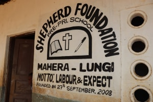 The Water Project: Shepherd Foundation, New Apostolic Church and Primary School -  School Sign