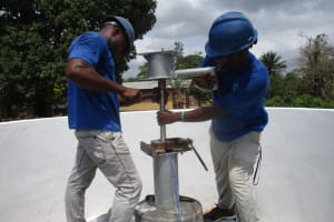 The Water Project: Kamasondo, Robombeh Village, Next to Mosque -  Pump Installation