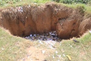 The Water Project: Masoila Roman Catholic Primary School -  Garbage Pit