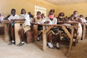 The Water Project: Lungi, Masoila, St. Joseph Junior Secondary School -  Students Inside Classroom