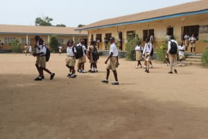 The Water Project: St. Joseph Senior Secondary School -  Students Outside Classroom