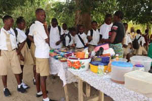 The Water Project: St. Joseph Senior Secondary School -  Students Buying Food