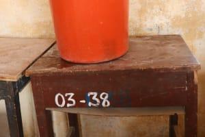 The Water Project: St. Joseph Senior Secondary School -  Water Storage Inside Classroom