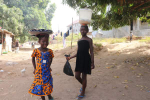The Water Project: Lungi, Targrin, #11 King Street -  Kids Carrying Goods To The Market
