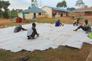 The Water Project: Saosi Primary School -  Sewing Sugar Sacks For Dome Form