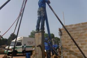The Water Project: Kamasondo, Borope Village, Main Motor Rd. Junction -  Drilling