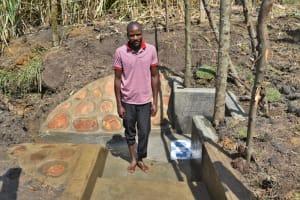 The Water Project: Malekha Central Community, Misiko Spring -  John Nakuru
