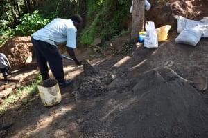 The Water Project: Muyundi Community, Magana Spring -  Concrete Preparation