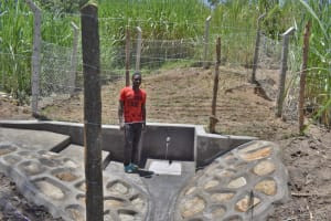 The Water Project: Bukhaywa Community, Violet Inganji Spring -  David At The Spring