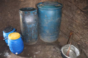 The Water Project: Bukhakunga Primary School -  Water Storage Containers Inside The Kitchen