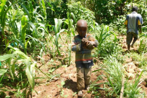 The Water Project: Musango Community, Wambani Spring -  All Ages Were Motivated To Help