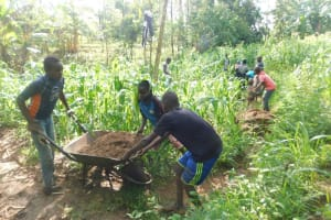 The Water Project: Musango Community, Wambani Spring -  Getting Materials To The Spring