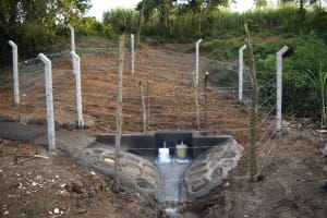 The Water Project: Makhwabuye Community, Majimazuri Lusala Spring -  Protected Spring