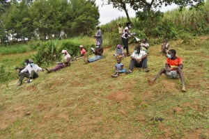 The Water Project: Indulusia Community, Wanyama Spring -  Issuing Training Materials