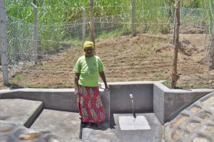 The Water Project: Bukhaywa Community, Violet Inganji Spring -  Violet Inganji At The Water Point