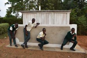 The Water Project: Friends School Manguliro Secondary -  Boys Pose At Their New Latrine Block