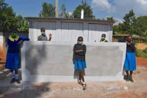 The Water Project: Kapkeruge Primary School -  Girls At Their New Latrines