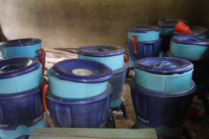 The Water Project: Bukhakunga Primary School -  Lifestraw Containers Inside A Class