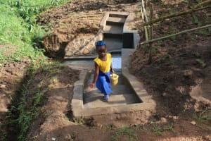 The Water Project: Ikoli Community, Odongo Spring -  Improved Access On The Stairs