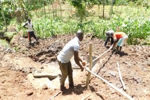 The Water Project: Musango Community, Wambani Spring -  Setting Up The Fence