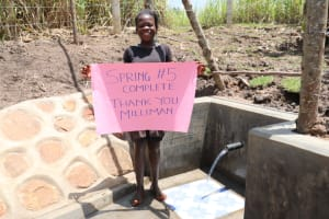 The Water Project: Malekha Central Community, Misiko Spring -  Full Of Thanks