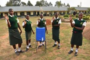 The Water Project: Friends School Manguliro Secondary -  At A New Handwashing Station