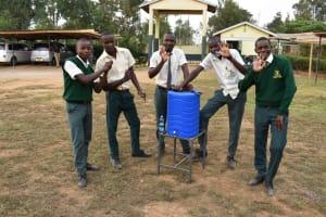 The Water Project: Friends School Manguliro Secondary -  At A New Handwashing Stations