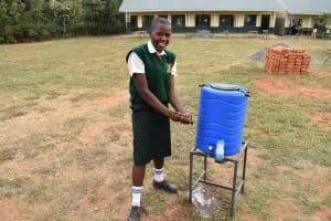 The Water Project: Friends School Manguliro Secondary -  Handwashing Using A New Station