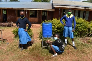 The Water Project: Kapkeruge Primary School -  Using A New Handwashing Point